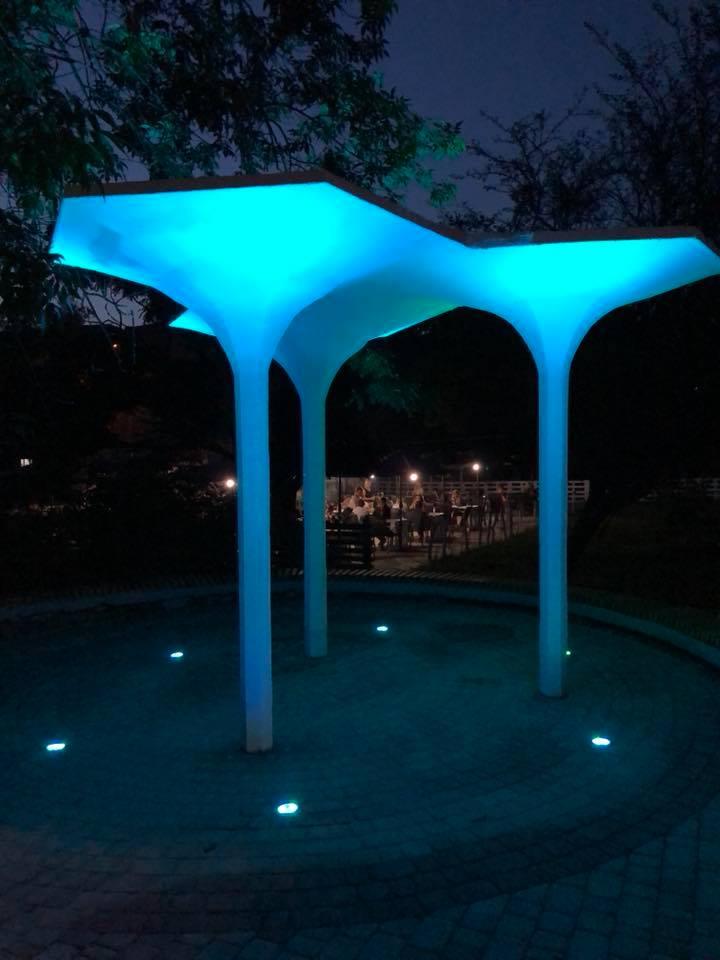 У Центральному парку Луцька встановили «цікаве» освітлення. ФОТО
