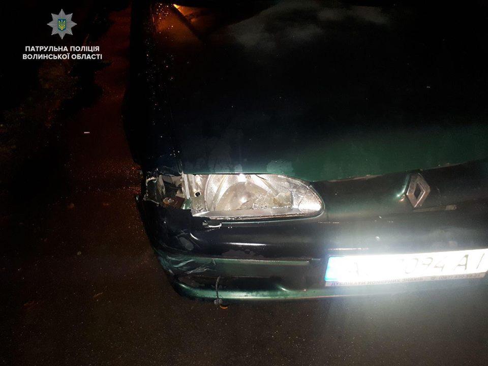 У Луцьку п'яний водій вчинив ДТП і втік з місця пригоди. ФОТО
