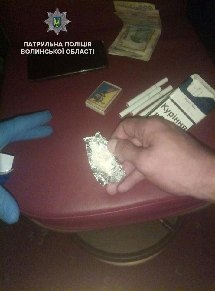 У Луцьку затримали молодиків з наркотиками. ФОТО
