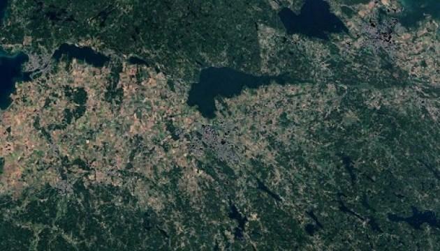 Наслідки аномальної спеки у Швеції видно з космосу