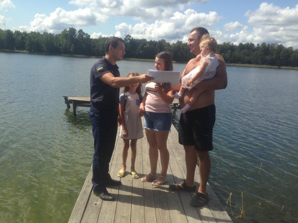 Рятувальники продовжують навчати волинян правил безпеки на водоймах