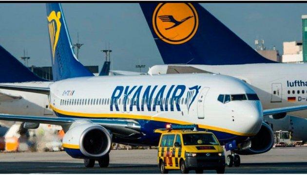 Пілоти Ryanair оголосили страйк у кількох країнах Європи