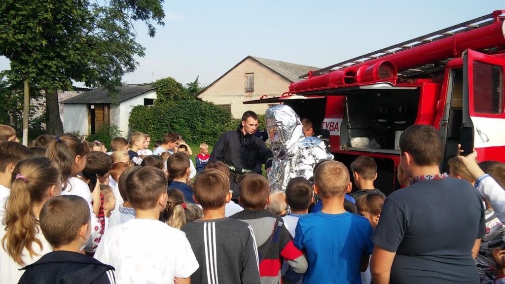 На Волині школярів навчають правил безпеки для їхнього майбутнього без пожеж. ФОТО