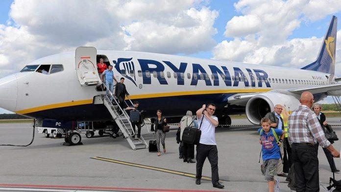 З України вилетів перший рейс лоукостера «Ryanair»
