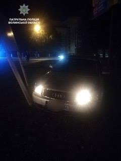 У Луцьку вночі нетверезий водій скоїв ДТП