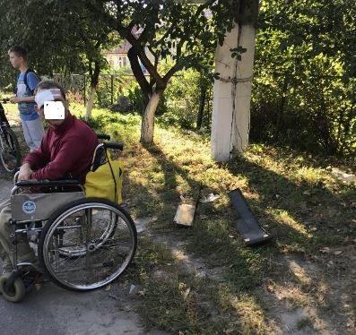 На Волині сталася ДТП за участі інваліда-візочника