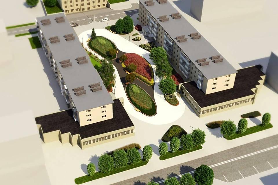 Архітектори показали, як виглядатиме «Трояндовий сквер» у Луцьку. ФОТО