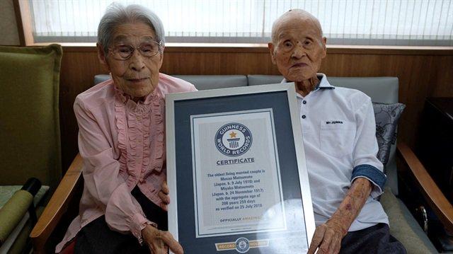 У Японії зафіксували рекорд з найстаршої у світі одруженої пари