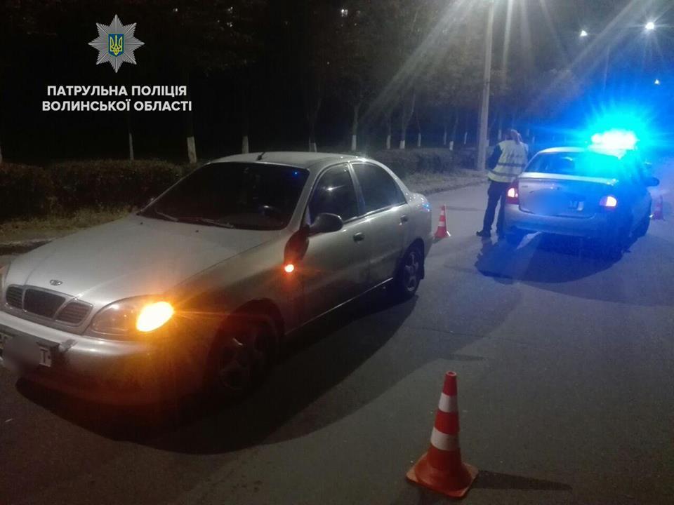 У Луцьку затримали нетверезого водія, який вчинив ДТП