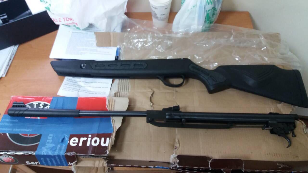 На «Ягодині» у пасажира рейсового автобуса вилучили зброю. ФОТО