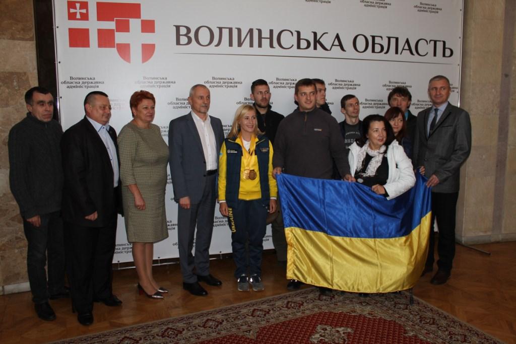 У Луцьку зустріли володарку двох золотих медалей «Ігор Нескорених 2018». ФОТО