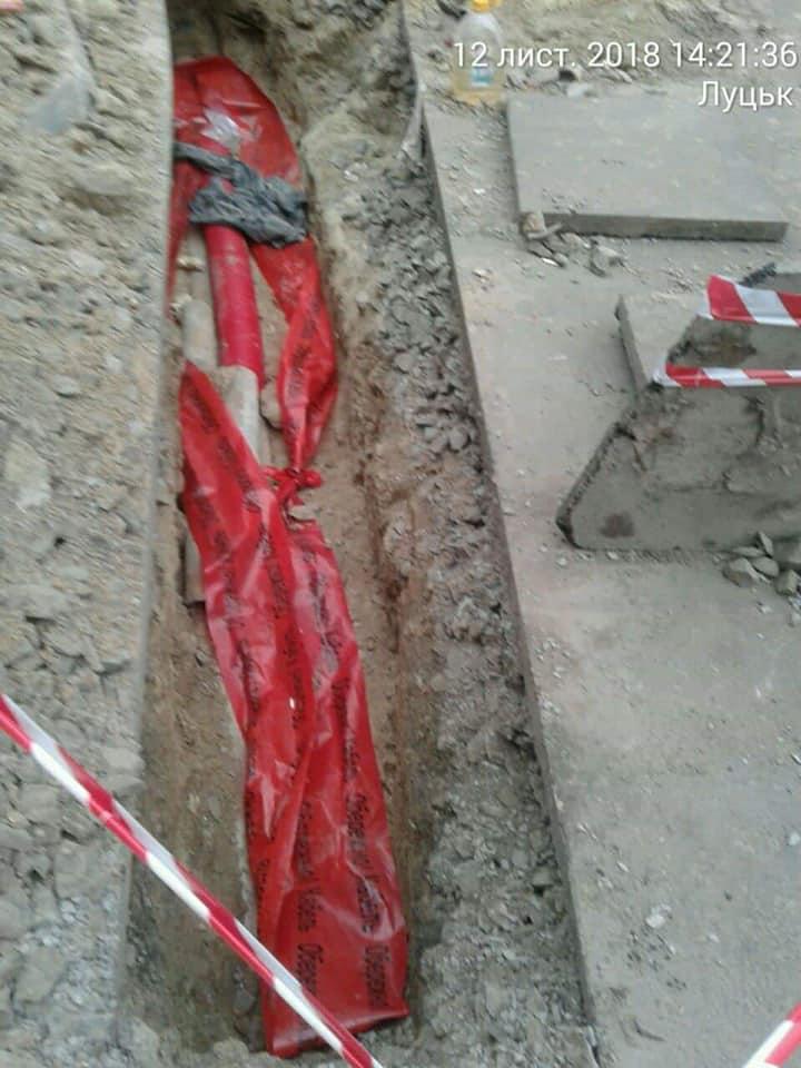 У Луцьку майстра будівельної компанії покарали за самовільні земляні роботи
