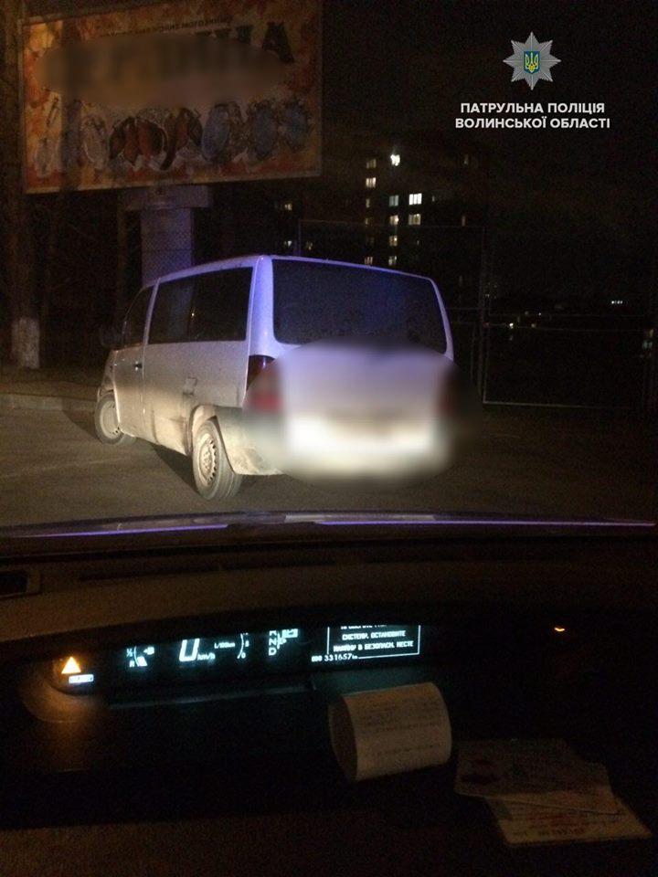 У Луцьку затримали нетверезого водія