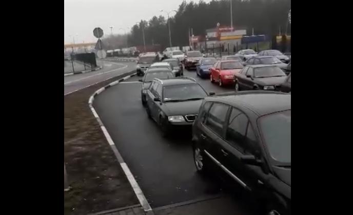 На «Ягодині» заблокований рух транспорту. ВІДЕО