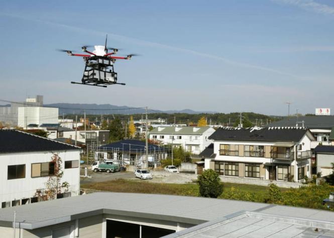 В Японії пошта почала доставляти документи дронами