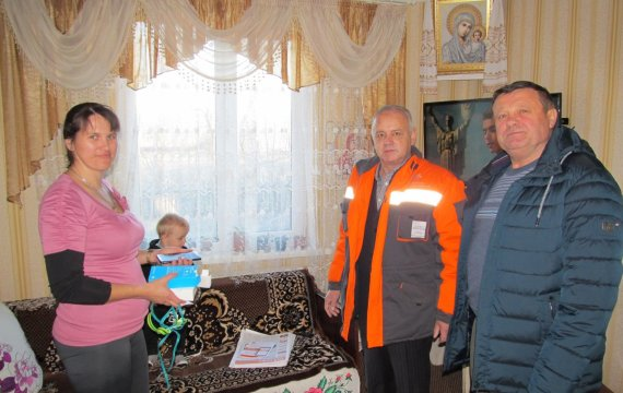 Багатодітна мама виграла смартфон в акції «Волиньгазу»