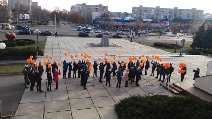 У Луцьку відбувся флешмоб «#разомПРОТИнасильства». ФОТО