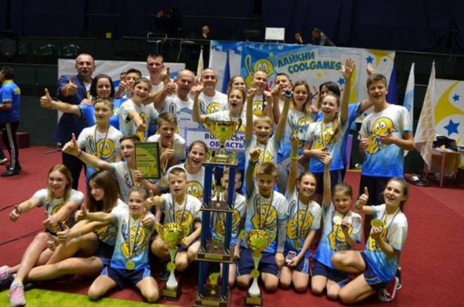 Волинські діти вибороли перемогу на змаганнях командних ігор «Cool Games»