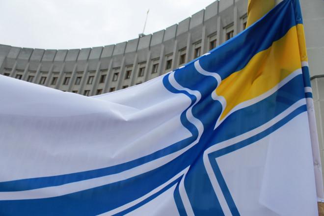 На Волині підняли прапор ВМС України на підтримку полонених моряків. ФОТО. ВІДЕО