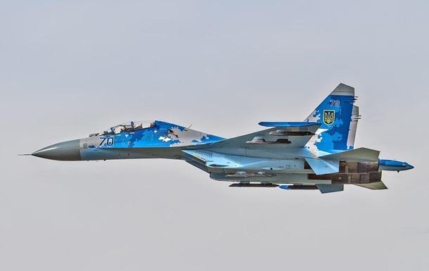 В Україні розбився військовий винищувач Су-27