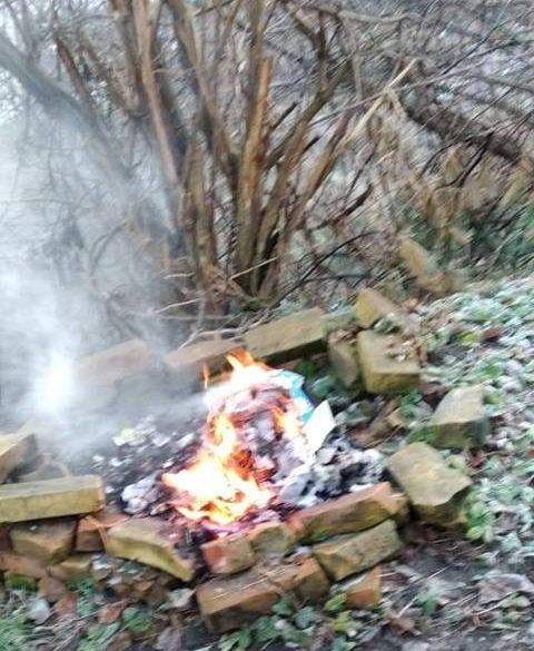 У Луцьку зловили палійку сміття