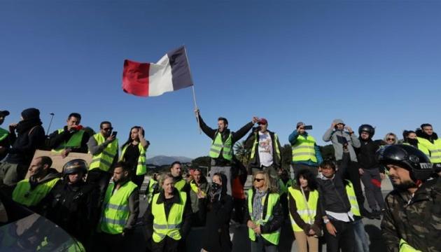 Протести «жовтих жилетів» у Франції: кількість загиблих зросла до дев'яти осіб