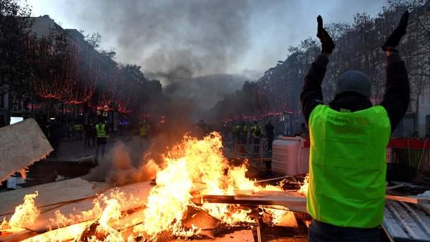 У паливних протестах у Франції взяли участь 136 тисяч людей