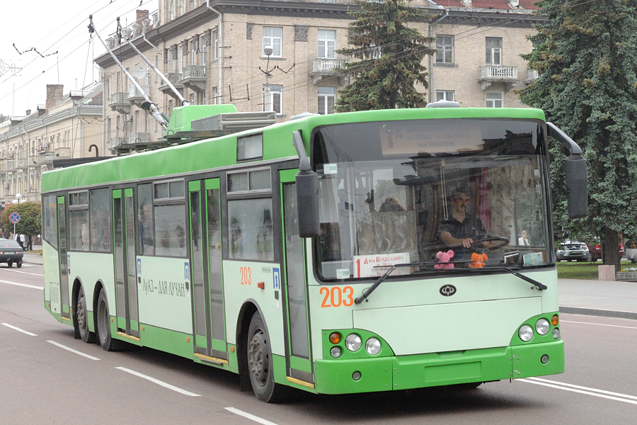 Лучан безкоштовно возитимуть брендованим тролейбусом