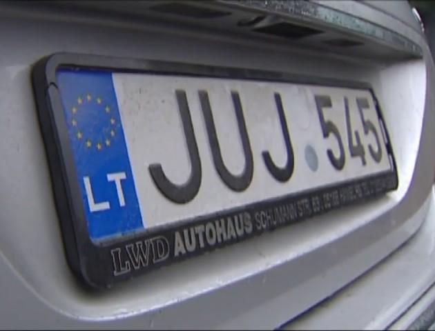 На Волині у вільний обіг випустили 601 «транзитний» автомобіль