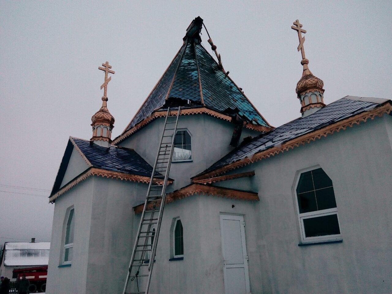 На Волині горіла церква УПЦ МП. ФОТО