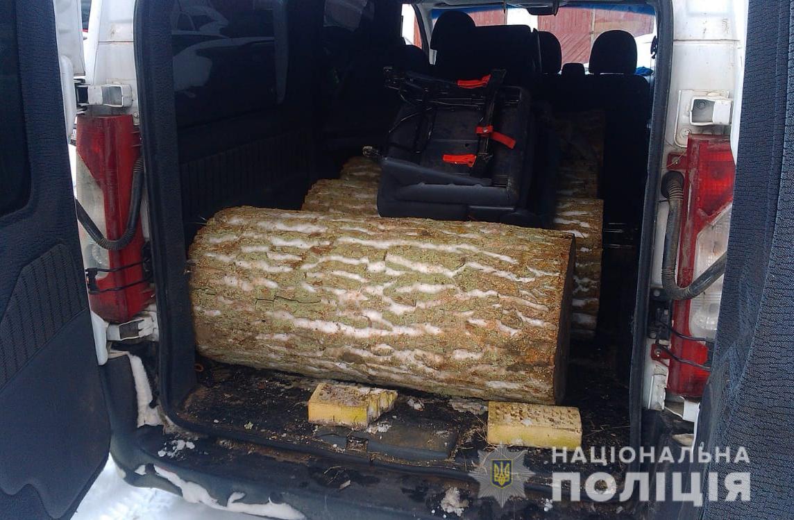 На Волині поліція вилучила деревину сумнівного походження