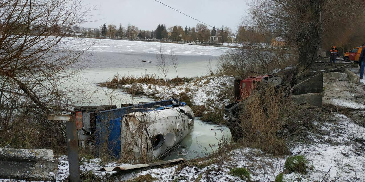На Волині три населених пункти лишились без газу через аварію з молоковозом