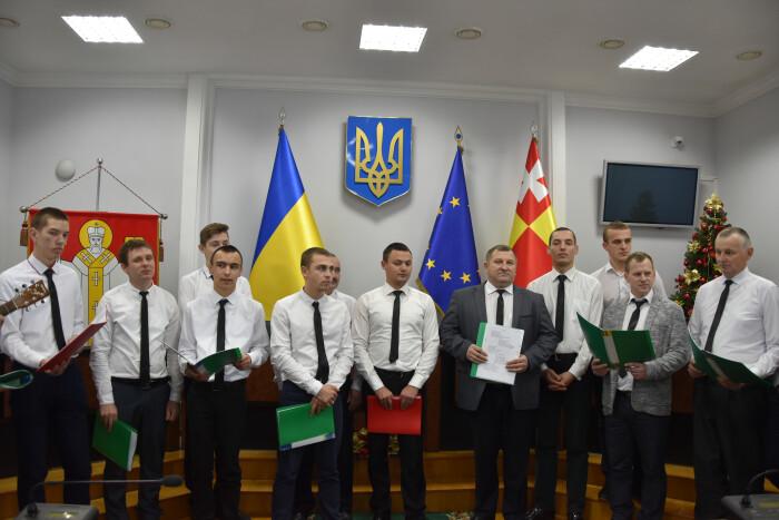 У Луцькраді виступив чоловічий хор. ФОТО