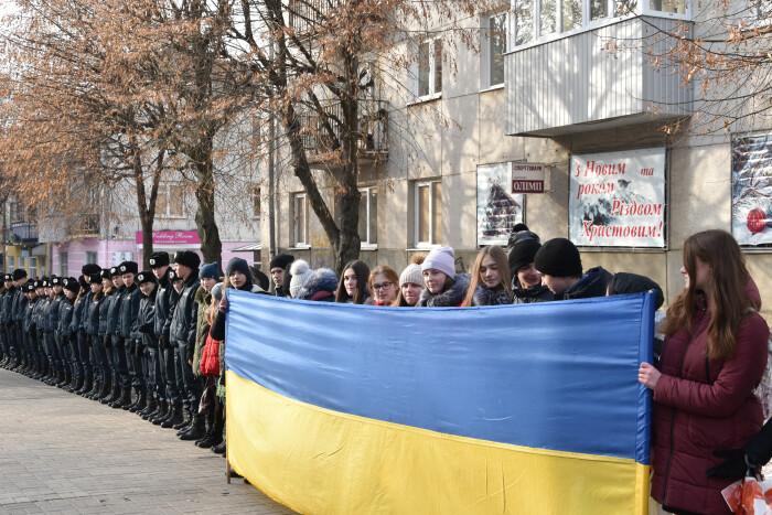 Лучани утворили «живий ланцюг» до Дня Соборності України