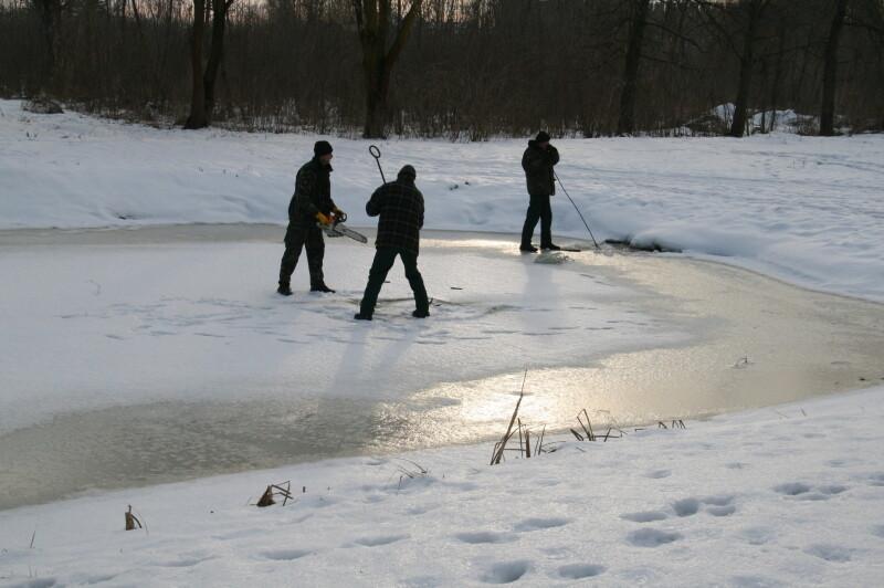 У Луцьку провели заходи для збереження водних біоресурсів під час зими. ФОТО