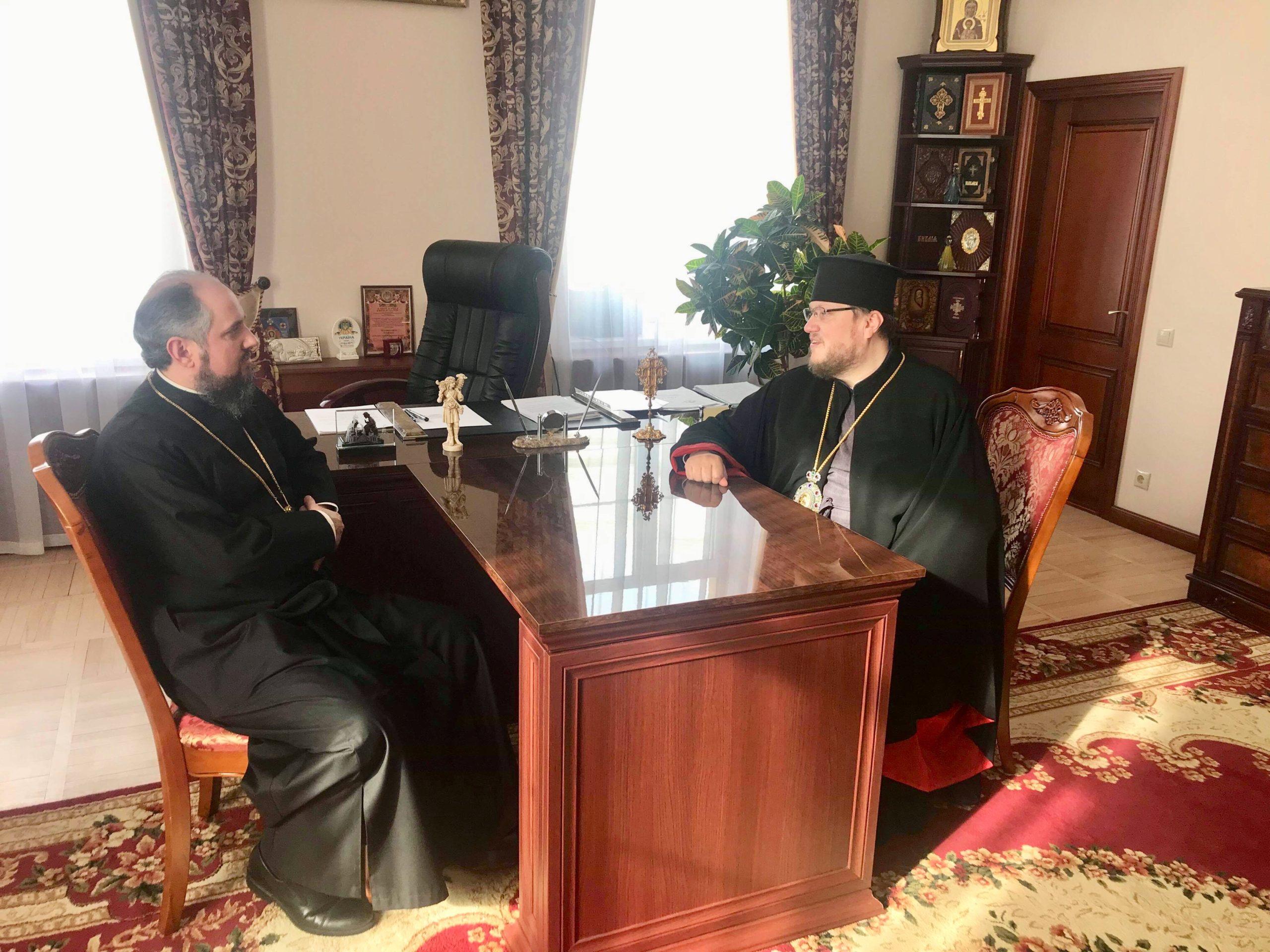 Єпископ з Волині зустрівся з очільником ПЦУ