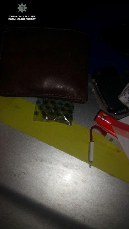 У Луцьку у водія виявили наркотики. ФОТО. ВІДЕО