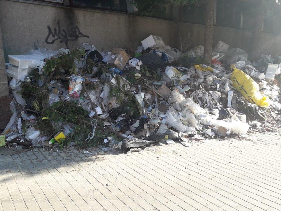 Біля луцького спортклубу виявили стихійне сміттєзвалище