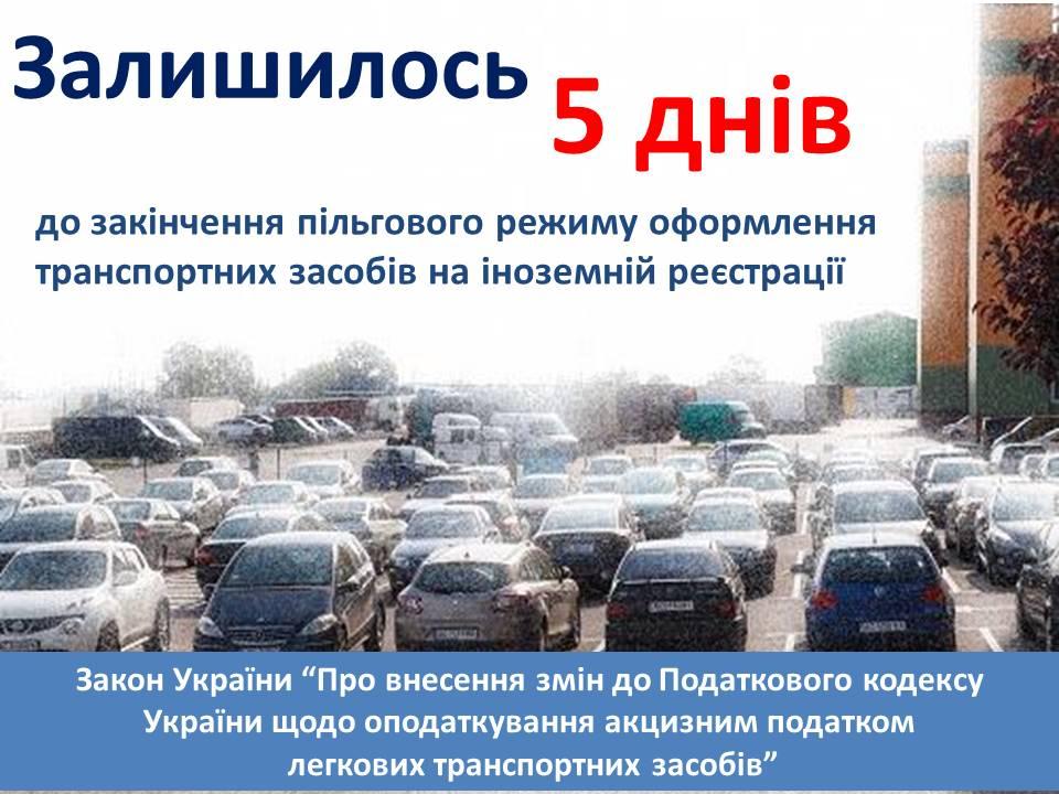 Митники Волині штрафуватимуть громадян, які не забрали розмитненні авто