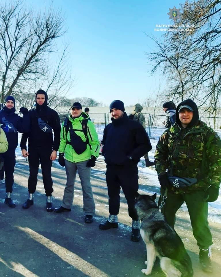 Патрульні Волині — учасники змагань в урочищі «Вовчак». ФОТО