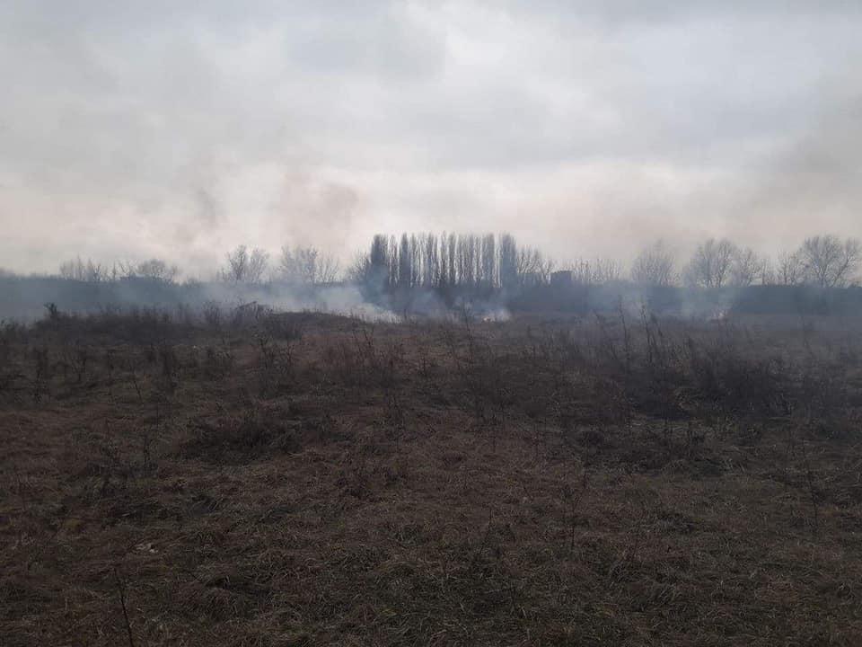 У Луцьку гасять пожежу поблизу річки. ФОТО