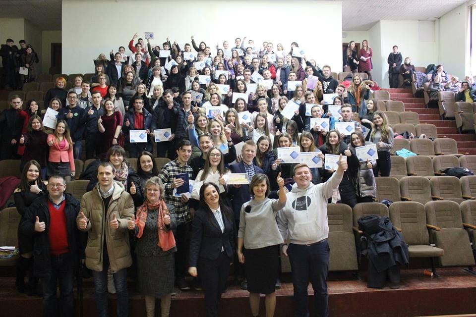 У Луцьку учасники проектуЗимова школа бізнесу отримали нагороди. ФОТО