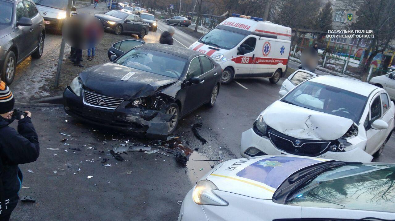 У Луцьку внаслідок автопригоди постраждали двоє людей