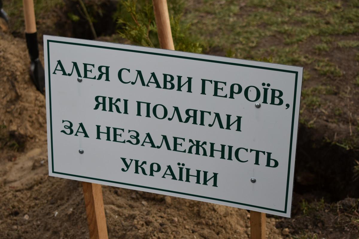 На Волині висадили дерева на Алеї пам`яті Героїв