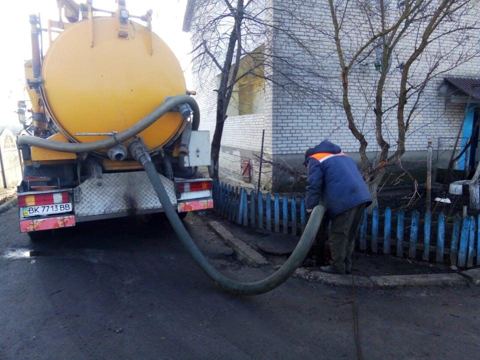 У Рожищі очистили каналізаційні мережі. ФОТО