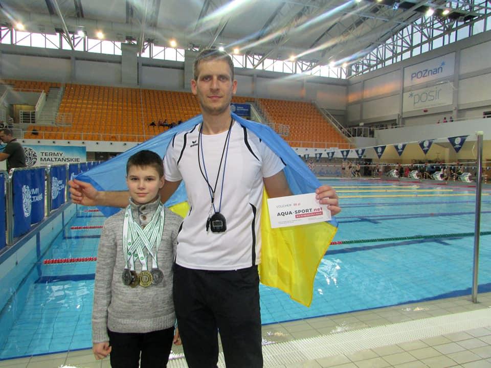Лучанин на змаганнях з плавання у Польщі виборов перше місце. ФОТО