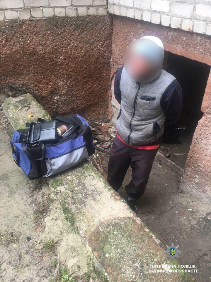На Волині виявили крадія сумки