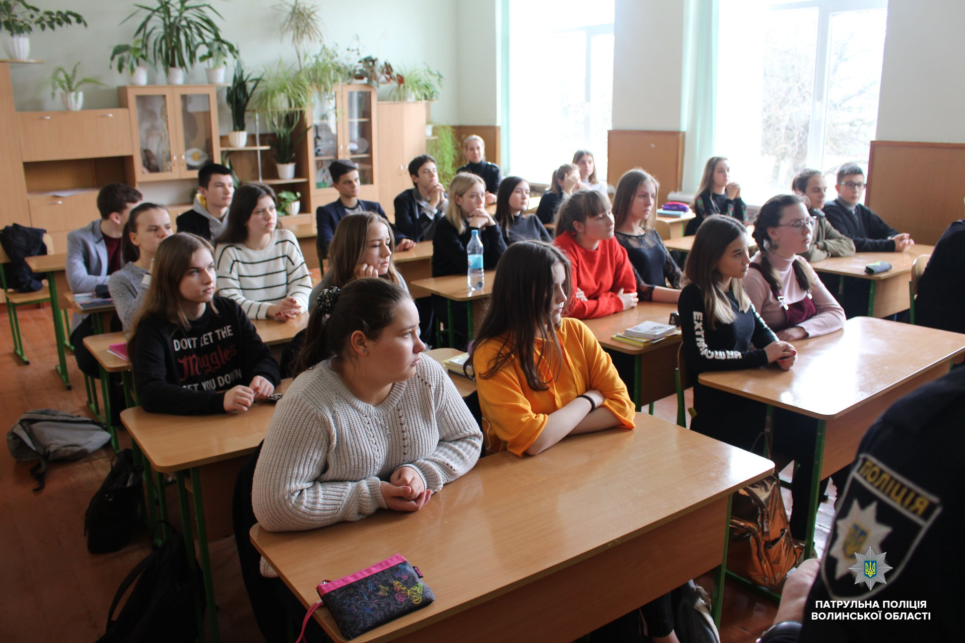 Луцьким школярам розповіли про наслідки від вживання алкоголю та наркотиків. ФОТО