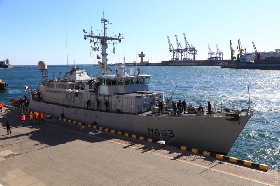 До Одеси прибув корабель НАТО для навчання з кораблями українських ВМС