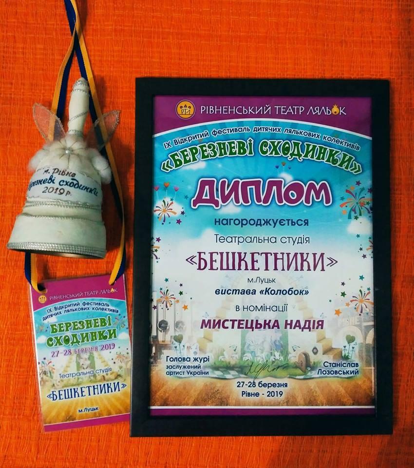 Луцька дитяча театральна студія дебютувала на фестивалі у Рівному